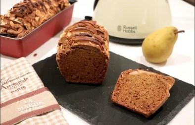 Cake aux amandes et poires saveur pain d'épice sans gluten et sans lactose