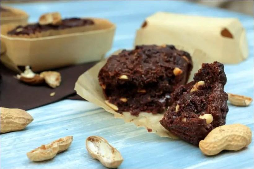 cake healthy au chocolat et cacahuètes