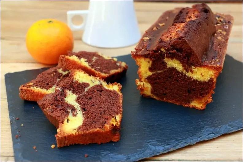 cake marbré aux clémentines chocolat et noisettes