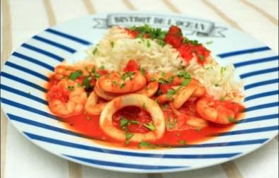 calamars à la tomate