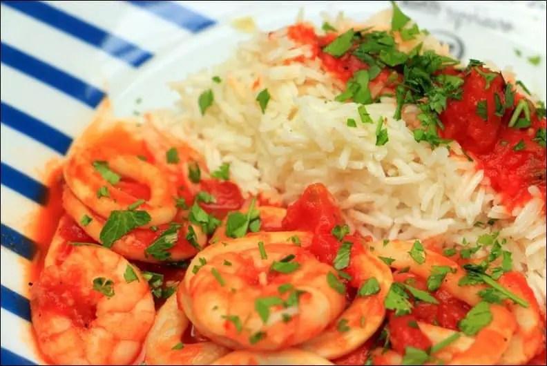 calamars crevettes tomate