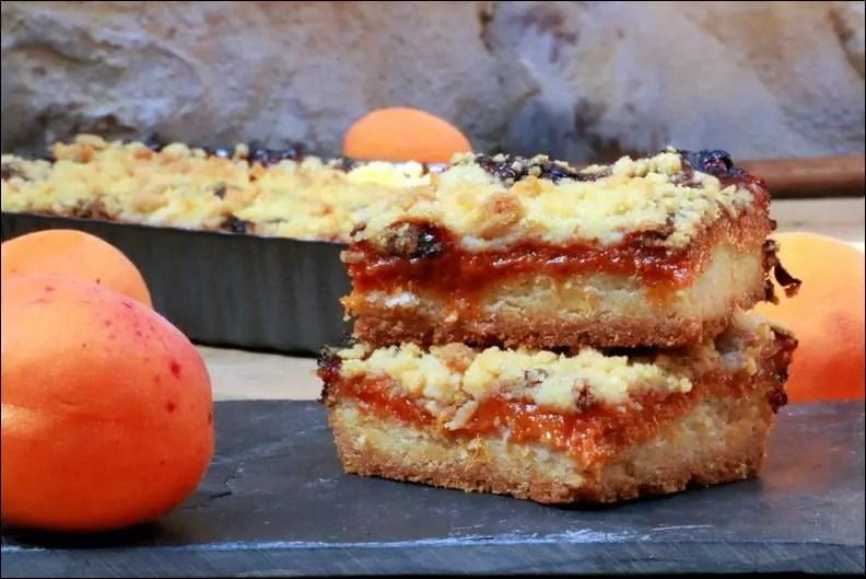 carrés sablés abricot