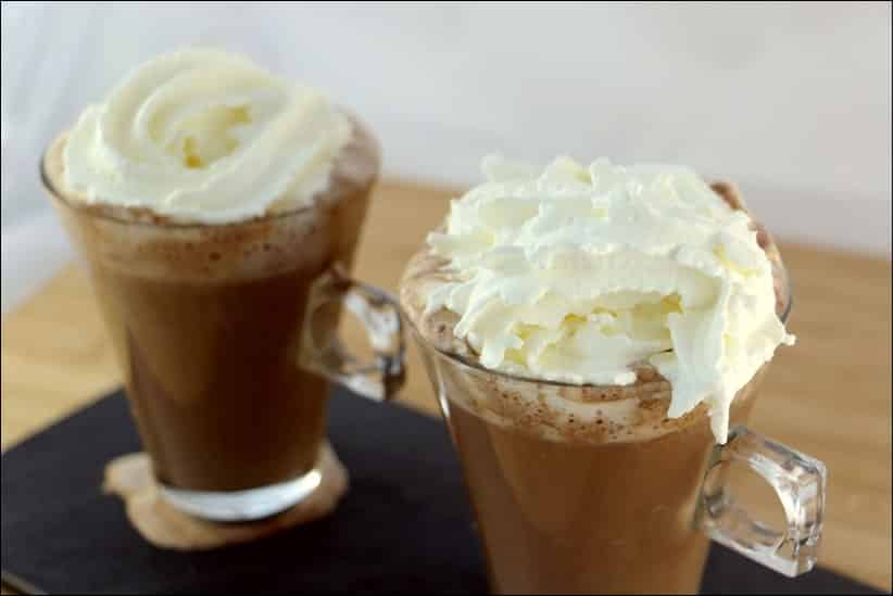 chocolat chaud vanille chantilly