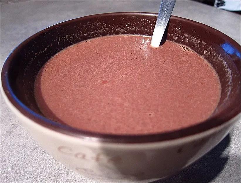 chocolat chaud maison à la vanille