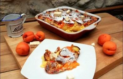 clafoutis aux abricots nougat et Cointreau