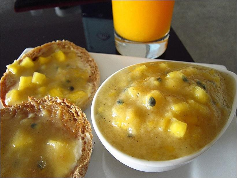 confiture banane mangue