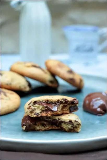 cookies cœur coulant nutella