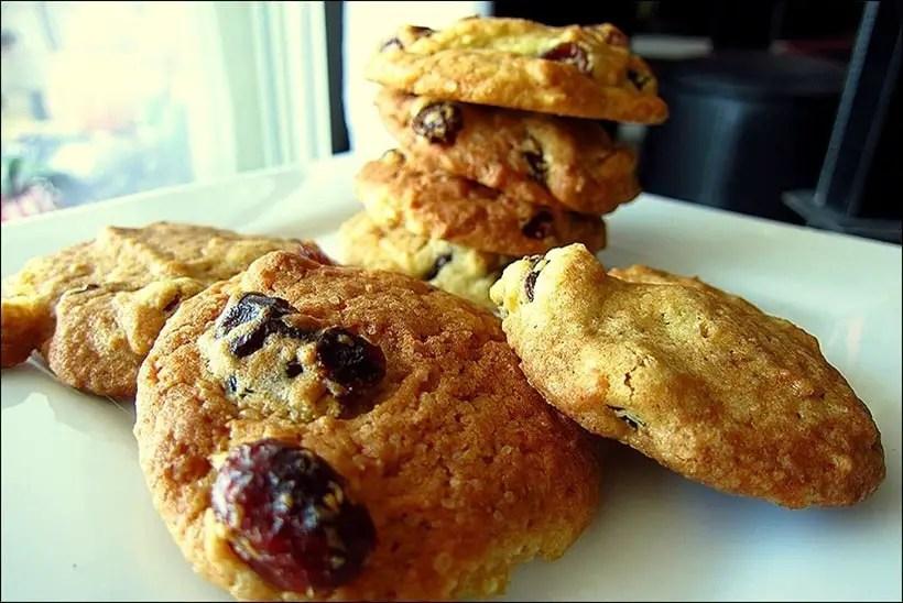 cookies raisins secs cranberries