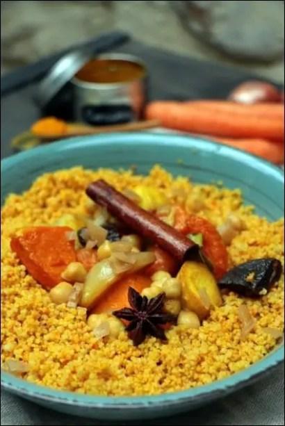 couscous végétarien courge