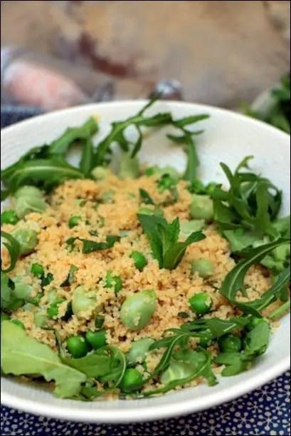 couscous vege feves petits pois