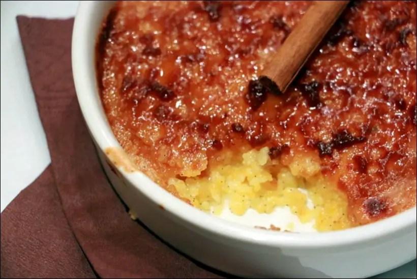 crème brulée de polenta epices