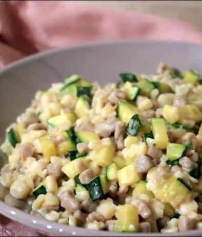crozets aux courgettes et curry