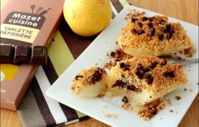 poire au chocolat crumble coco