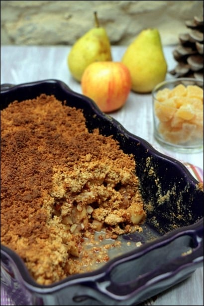 crumble pomme gingembre