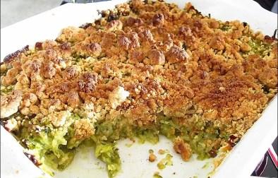 crumble de courgettes basilic et parmesan