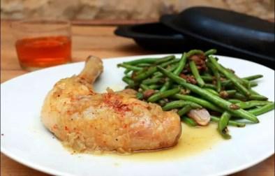 cuisse de poulet au pastis en papillote