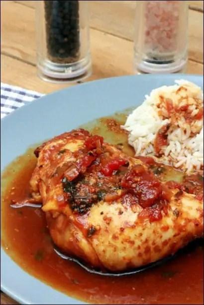 cuisses de poulet roussi