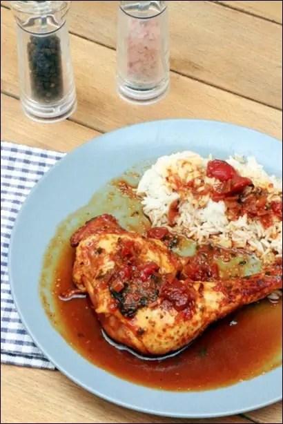 poulet sauce roussi