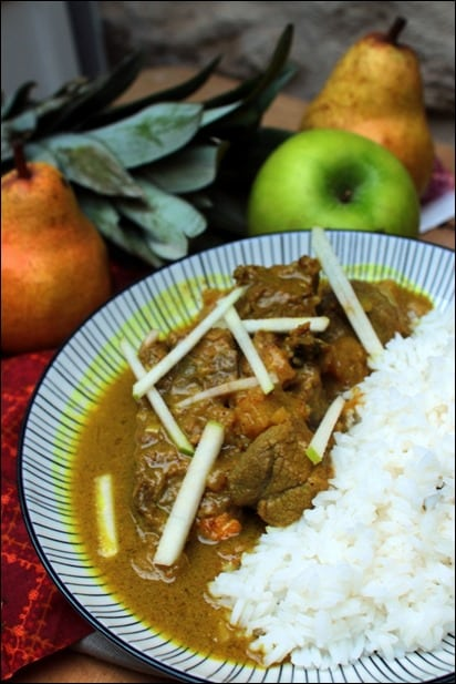 curry agneau ananas