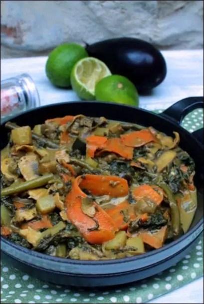 curry coco aubergine