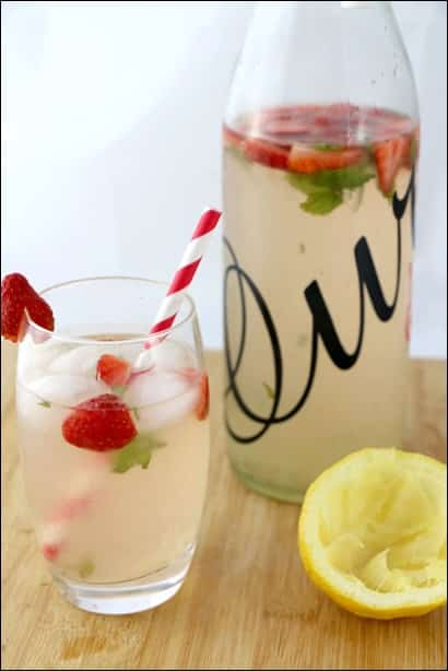 detox water fraise citron