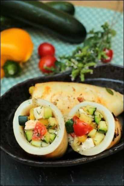 calamars farcis grecque feta