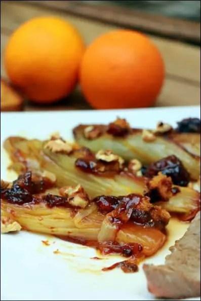 endives orange pain d'épice