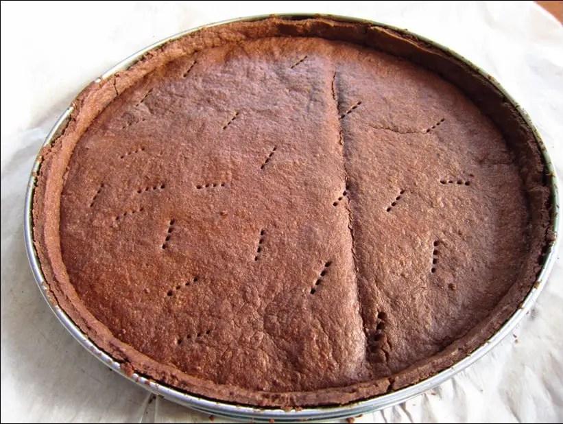 fond de tarte sablé au chocolat de Yann Couvreur
