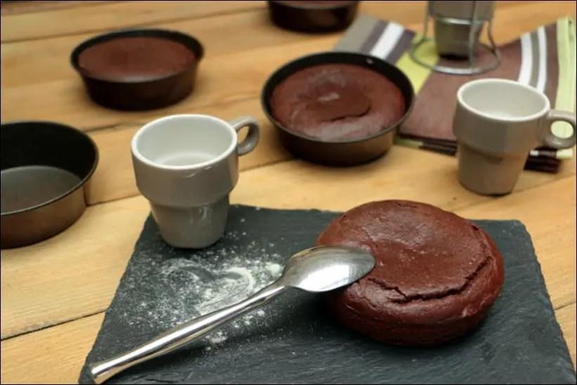fondant coulant au chocolat individuel
