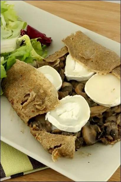 crepe bretonne champignons chèvre