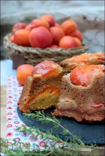 gateau abricot polenta