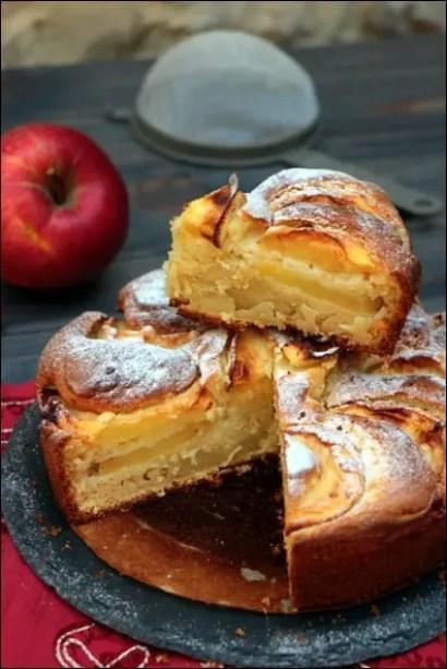 gateau pomme mascarpone