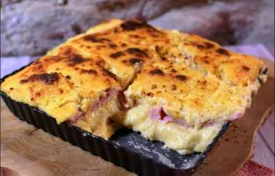 gratin de polenta jambon fromage