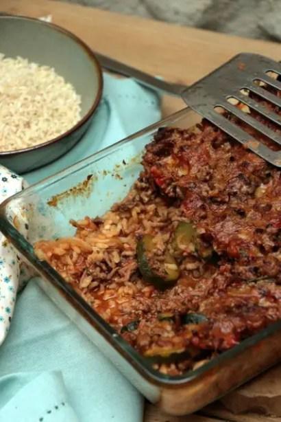 hachis camarguais bœuf riz courgette