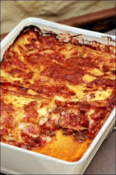 lasagnes bolognaises à la mozzarella