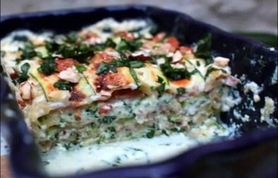 lasagnes au jambon cru courgette et ricotta