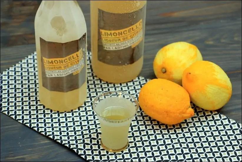 limoncello maison liqueur de citron