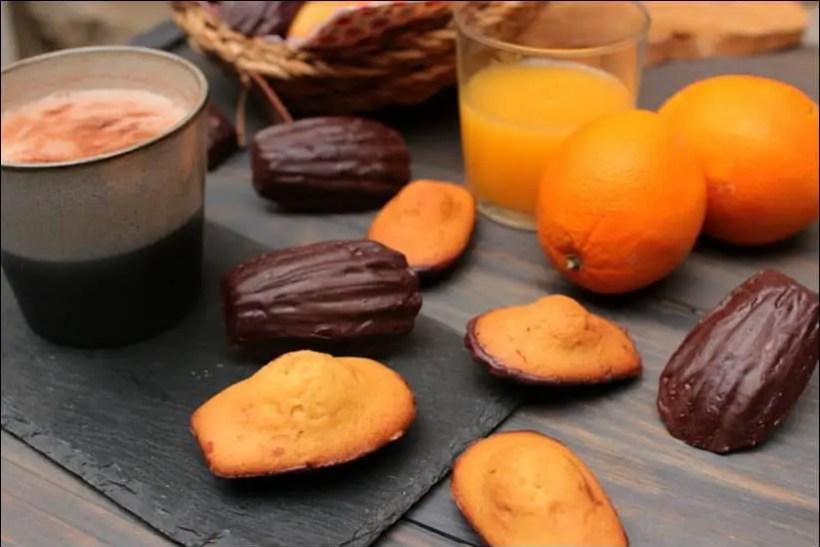 recette madeleine chocolat orange
