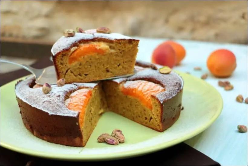 gateau moelleux abricot