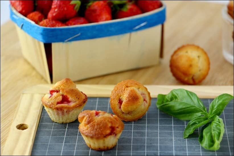 muffins fraise basilic