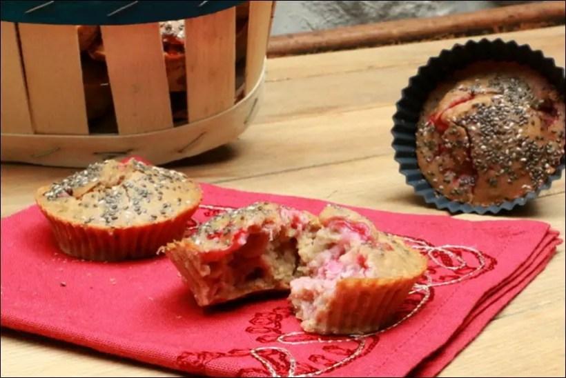 muffins fraises chia