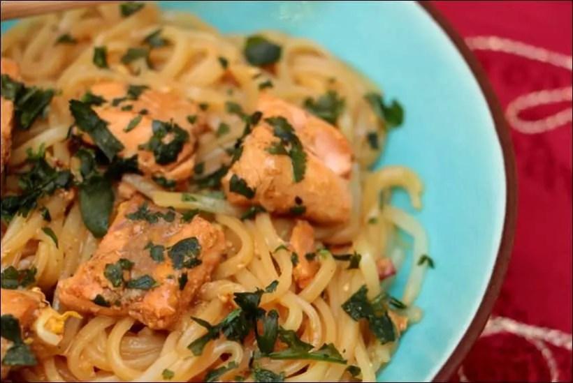 recette pad thai saumon