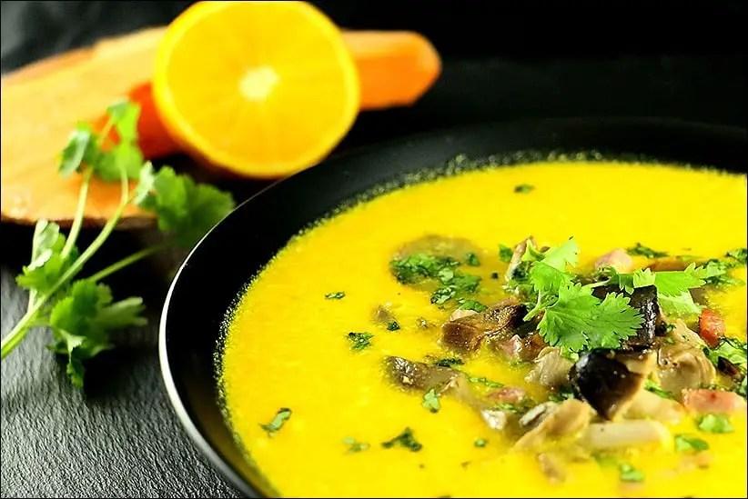 soupe potiron et champignons