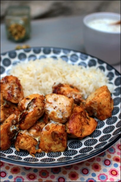 poulet mariné curry