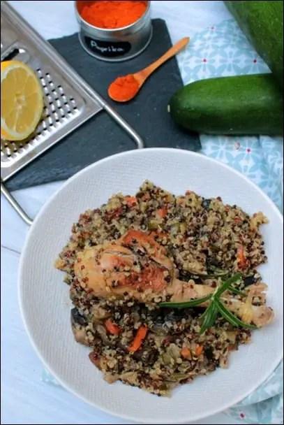 quinoa poulet romarin
