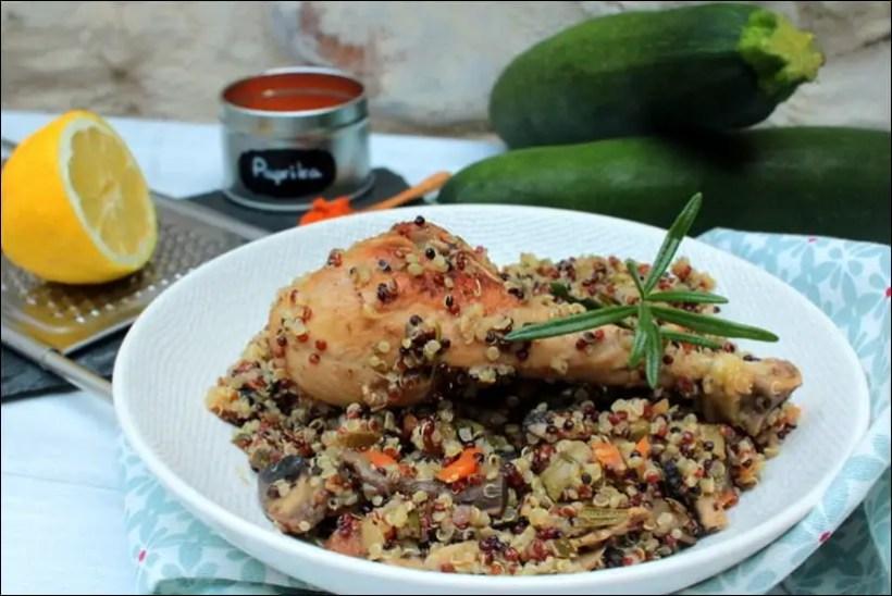 poulet quinoa carottes