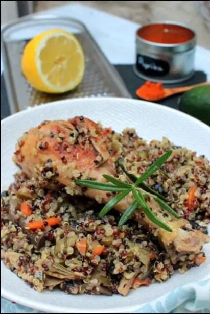 poulet quinoa courgette