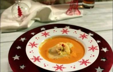 ravioles de homard en bisque