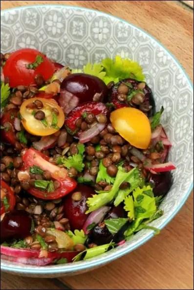salade lentilles coriandre
