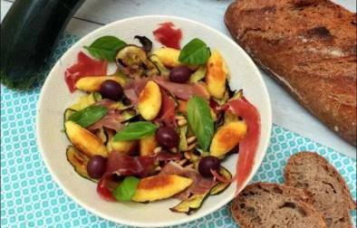 salade courgettes quenelles